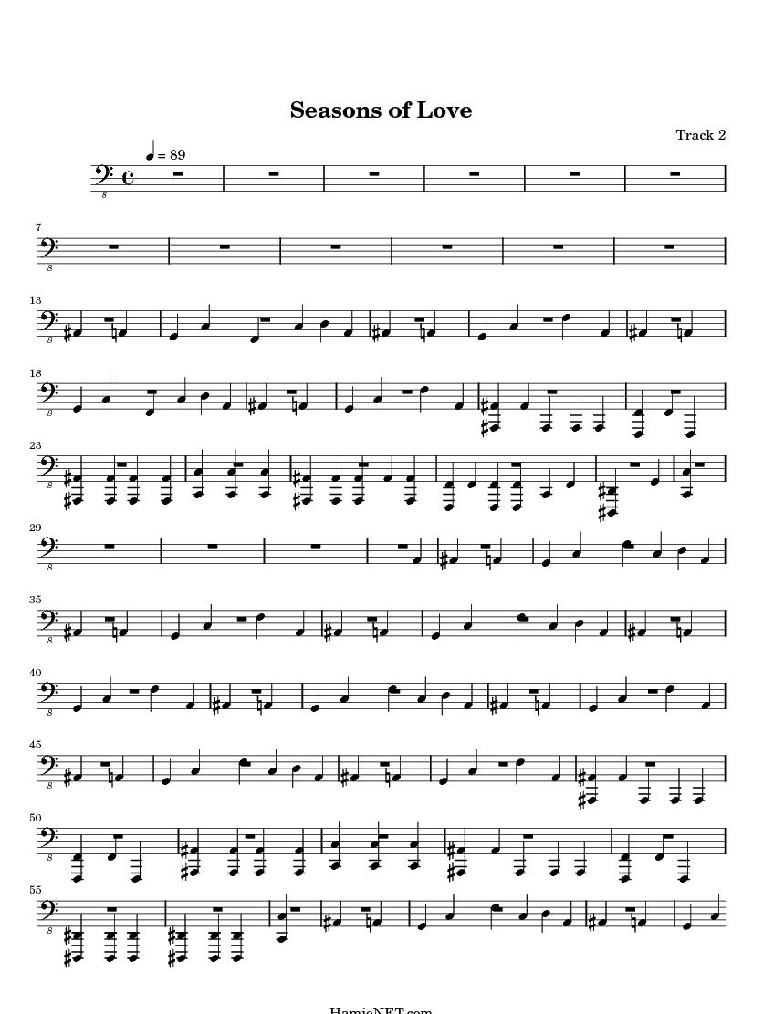 Seasons of Love Sheet Music - Seasons of Love Score • HamieNET.com
