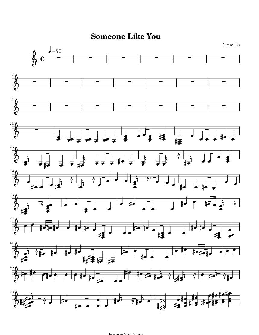 Someone Like You Sheet Music Someone Like You Score Hamienet Com